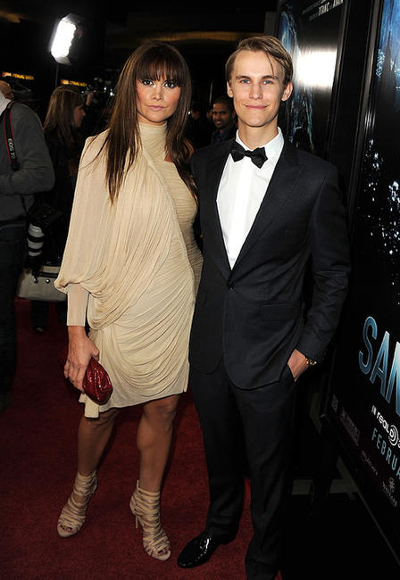 Alice Parkinson and Rhys Wakefield at the California premiere of