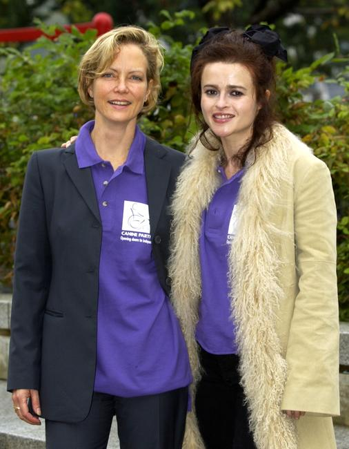 Jenny Seagrove and Helena Bonham-Carter at the launch of new logo and name for the charity, Canine Partners for Independence.