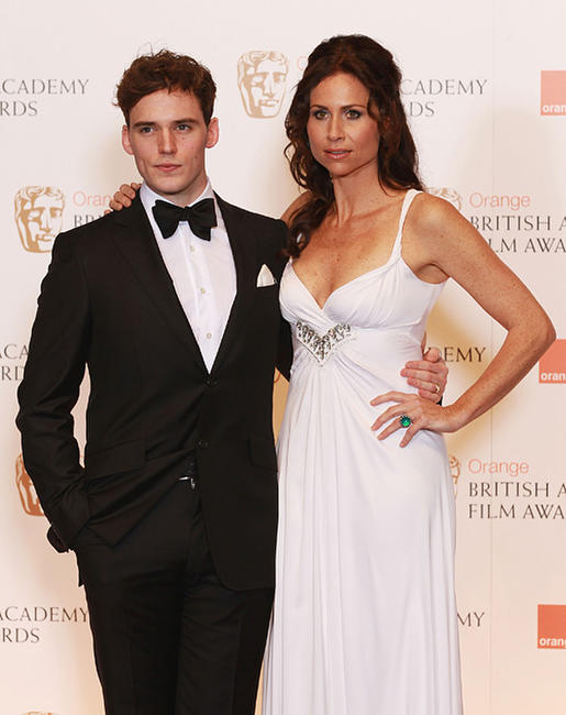 Sam Claflin and Minnie Driver at the Orange British Academy Film Awards in London.