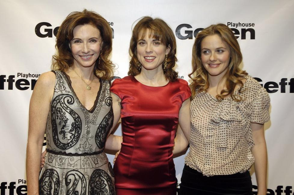 Mary Steenburgen, Rebecca Pidgeon and Alicia Silverstone at the play