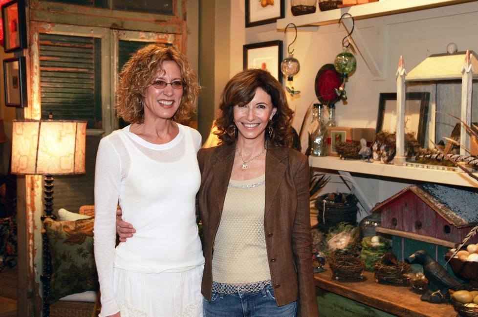 Mary Steenburgen and Christine Lahti at the private reception for the premiere of the short film