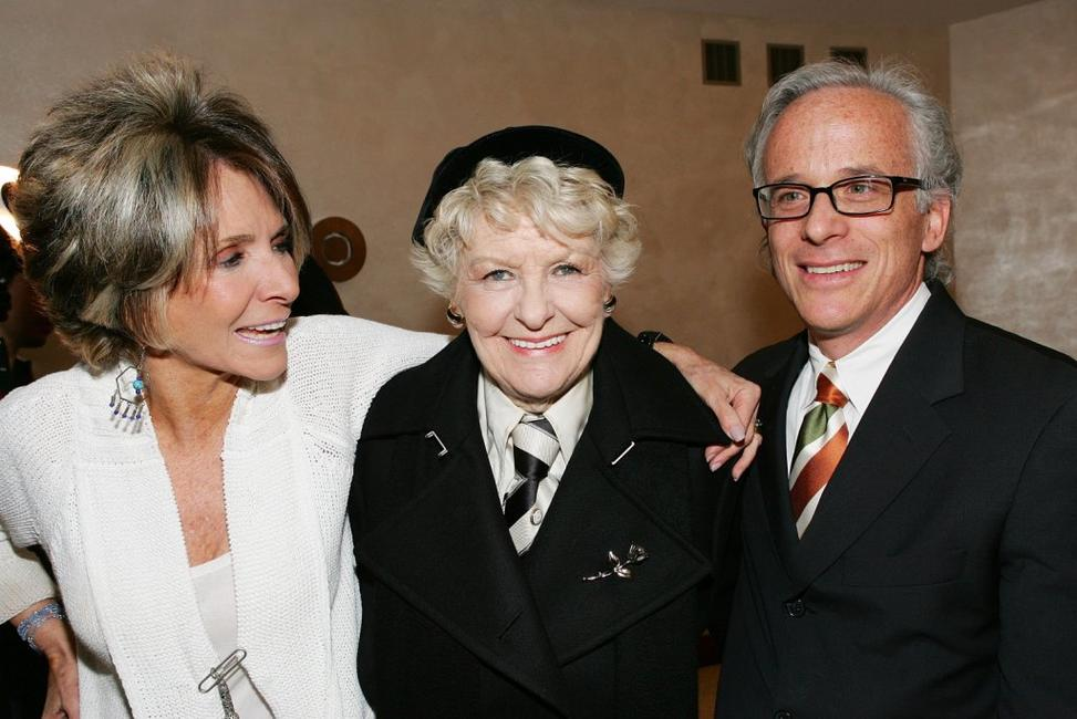 Producer Sheila Nevins, Elaine Stritch and Producer John Hoffman at the New York premiere of