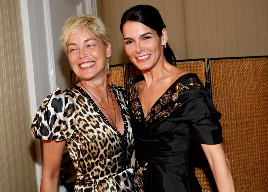 Sharon Stone and Angie Harmon at the Diamond Information Center and InStyle Diamond Fashion Show.