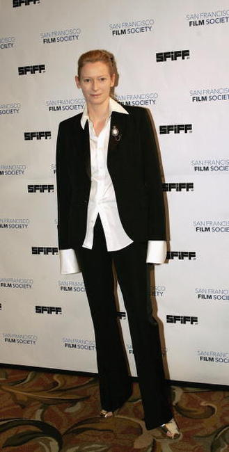 Tilda Swinton at the San Francisco International Film Festival awards ceremony in San Francisco.