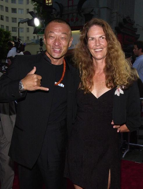 Cary-Hiroyuki Tagawa and his wife Sally at the premiere of