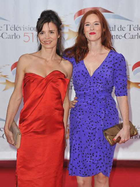 Caroline Proust and Audrey Fleurot at the opening ceremony of 51st Monte Carlo TV Festival.