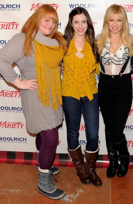 Producer Katie Anne Naylon, Lauren Anne Miller and Ari Graynor at the Variety Studio during the day 2 of 2012 Sundance Film Festival.