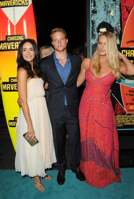 Abigail Spencer, Jonny Weston and Leven Rambin at the California premiere of