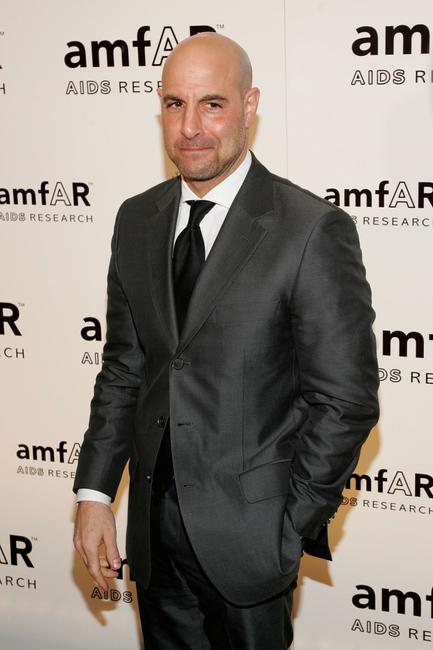Stanley Tucci at the AmFAR Gala honoring the work of John Demsey and Whoopi Goldberg.
