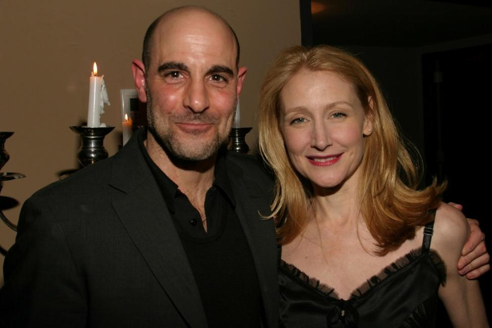 Stanley Tucci and Patricia Clarkson at the Pieces of April Cocktail Party.