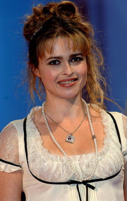 "Helena Bonham Carter at the premiere of the film ""Corpse Bride"" in Venice, Italy."