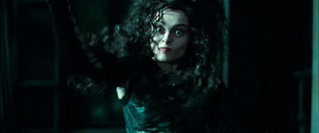 Helena Bonham Carter as Bellatrix Lestrange in