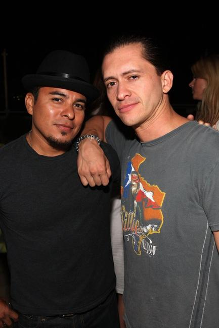 Jacob Vargas and Clifton Collins Jr at the Helio launch summer party of Ocean to benefit Heal the Bay.