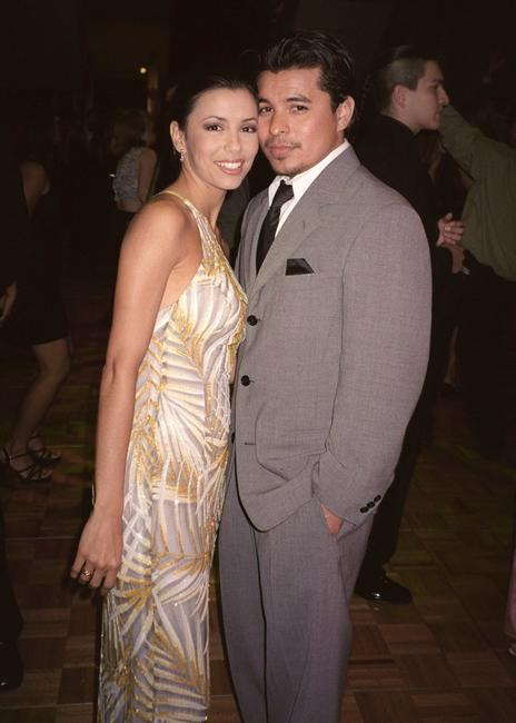 Eva Longoria and Jacob Vargas at the 2001 ALMA (American Latino Media Arts) awards after party.