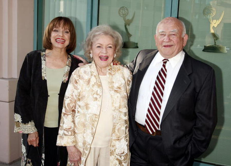 Valerie Harper, Betty White and Ed Asner at the Academy of Television Arts and Sciences celebrating Betty White's 60 years on television.