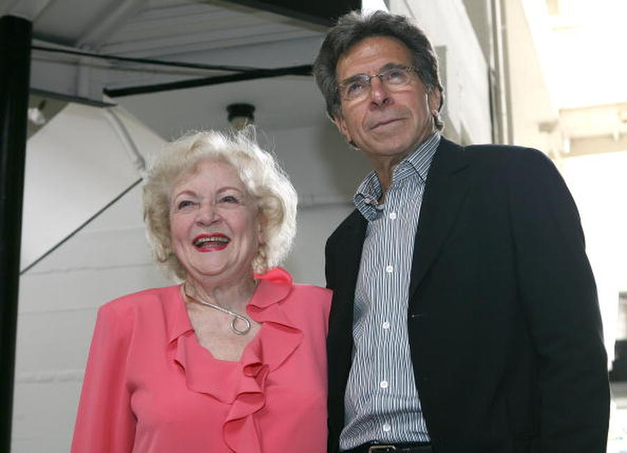 Betty White and producer Paul Junger Witt at the Golden Girls Reunion.
