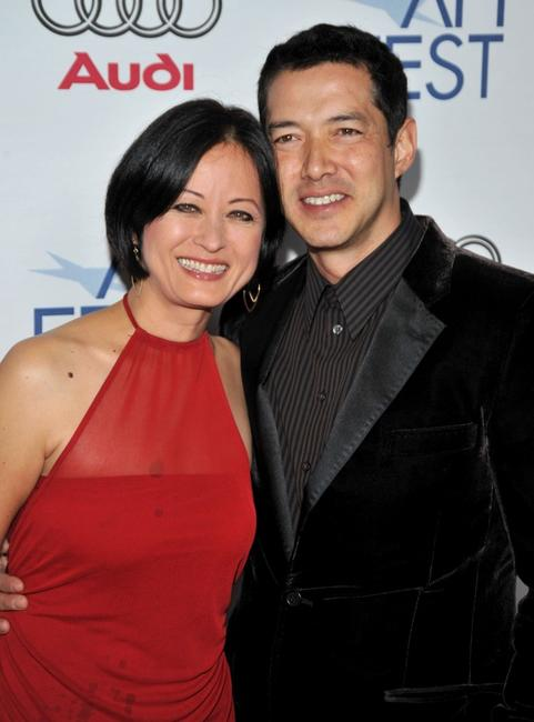 Julia Nickson-Soul and Russell Wong at the 2008 AFI FEST.