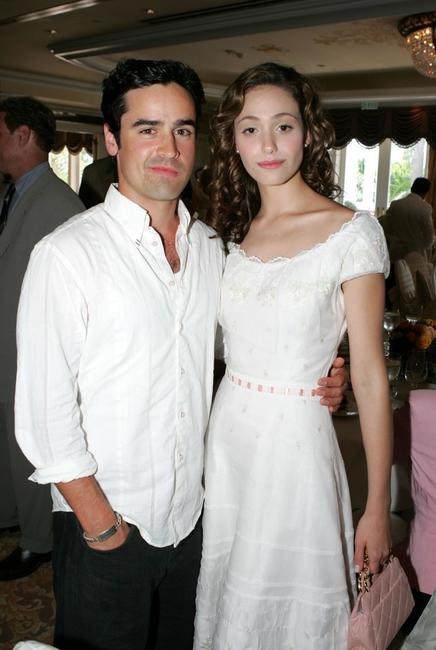 Jesse Bradford and Emmy Rossum at the Hollywood Foreign Press Association annual installation luncheon.