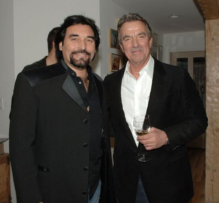John Castellanos and Eric Braeden at the after party of the premiere of