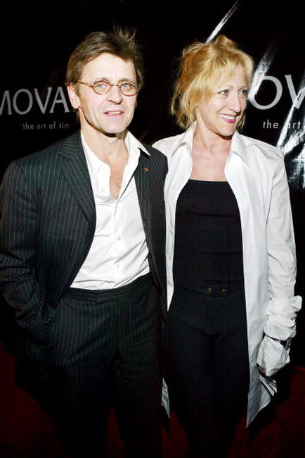 Mikhail Baryshnikov and Edie Falco at the Baryshnikov's first photography showcase and the premiere of the