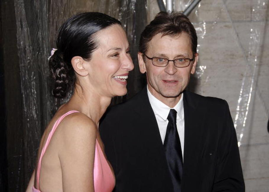 Mikhail Baryshnikov and Cynthia Rowley at the opening night of the New York City Ballet's