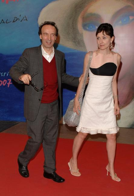 Roberto Benigni, his wife and actress Nicoletta Braschi at the 55th San Sebastian International Film Festival.