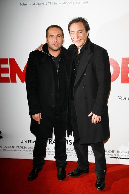 Patrick Timsit and Richard Berry at the Paris premiere of