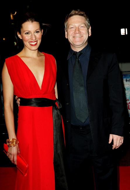 Kenneth Branagh and Amy Carson at the UK premiere of
