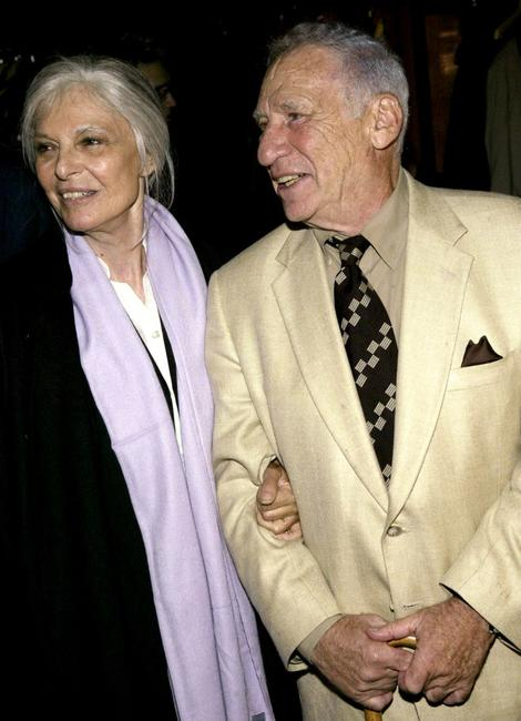 Mel Brooks and Anne Bancroft at West Bank Cafe for the opening night party for