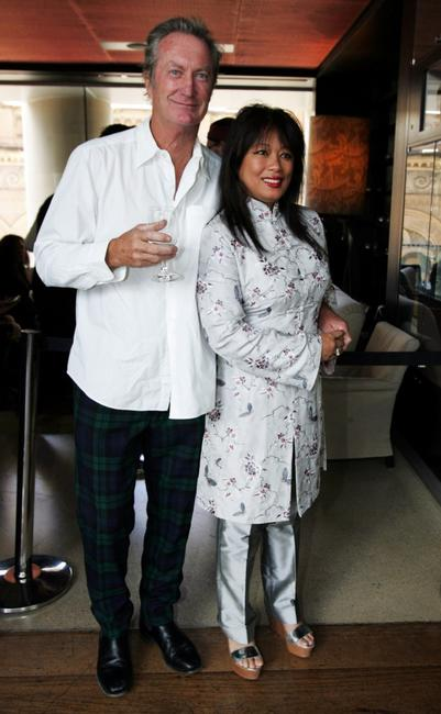 Bryan Brown and Jane Barnes at the launch of the Jimmy Barnes biography.