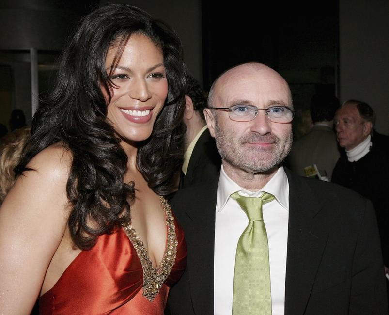 Phil Collins and Merle Dandridge at the opening night of