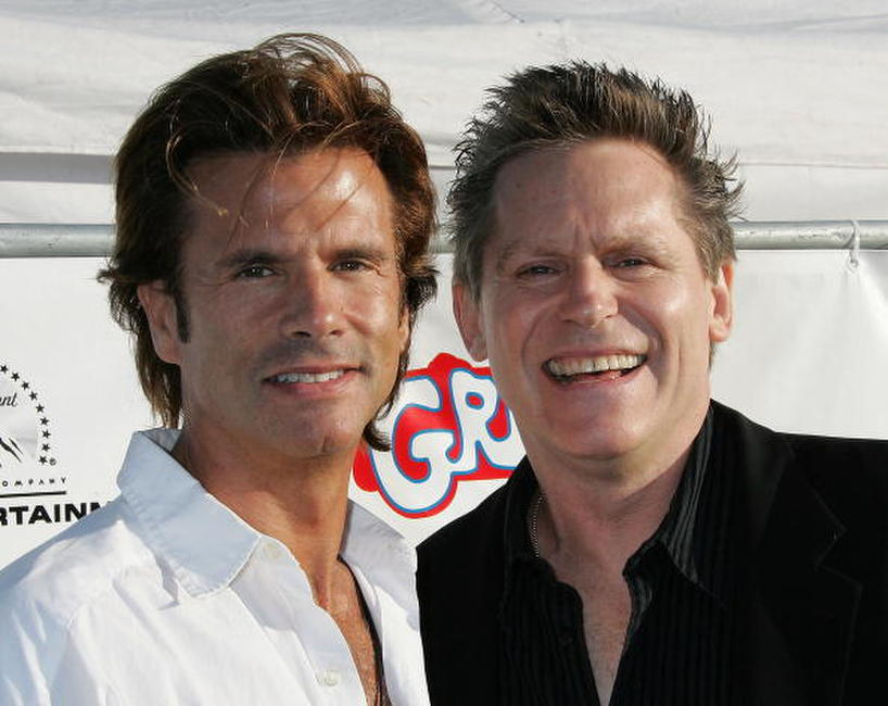 Lorenzo Lamas and Jeff Conaway at the Grease Rockin' Rydell Edition DVD Launch Event.
