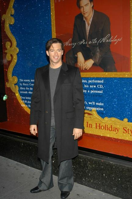 Harry Connick, Jr. at the unveiling of Bloomindales holiday window display.
