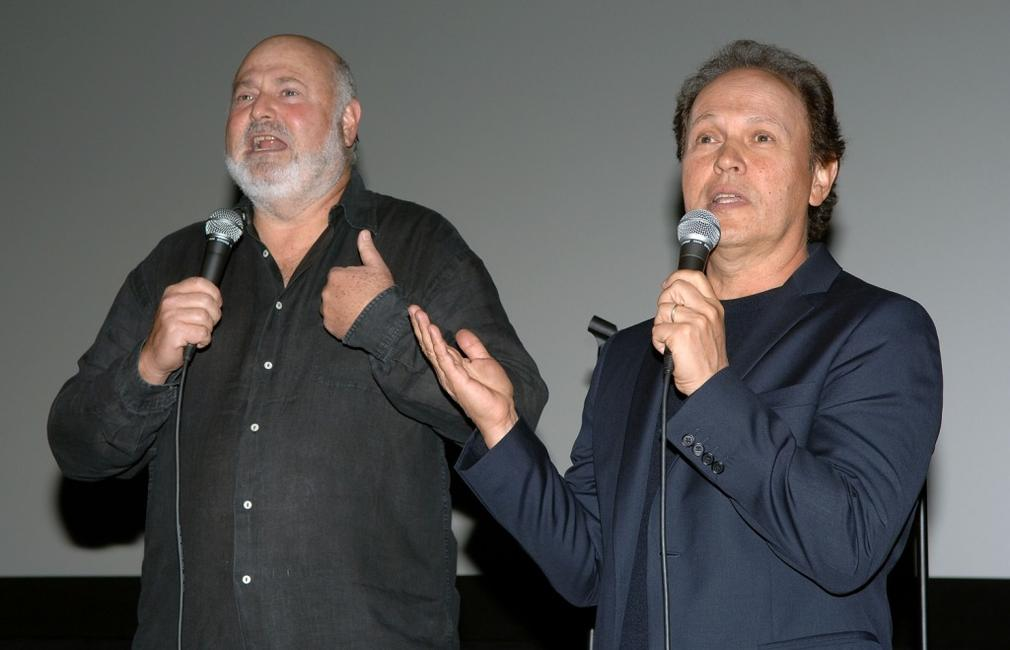 Billy Crystal and Rob Reiner at the AFIs 40th Anniversary celebration, presents the film