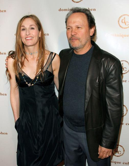Billy Crystal and Dominique Cohen at the opening of the Dominique Cohen Flagship Jewelry Store.