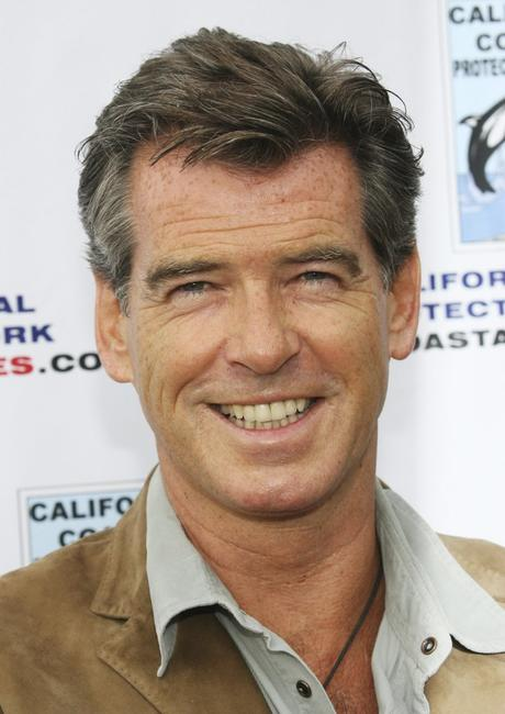 Pierce Brosnan at the Paddle Out Protest at Malibu Surfrider Beach.