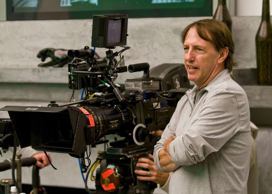 Director Dennis Dugan on the set of