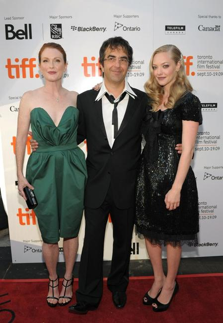 Julianne Moore, Atom Egoyan and Amanda Seyfried at the screening of