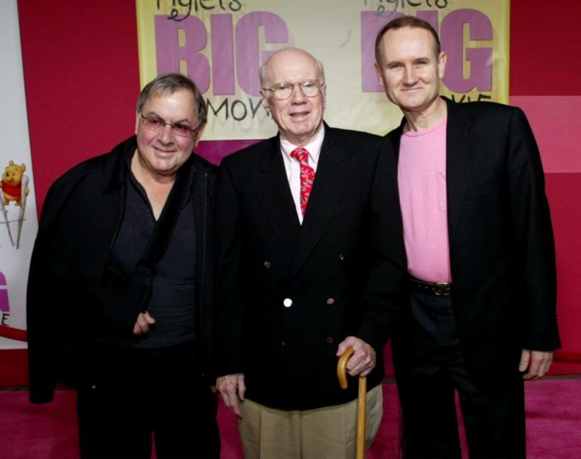 Andre Stojka, John Fiedler and Francis Glebas at the premiere of