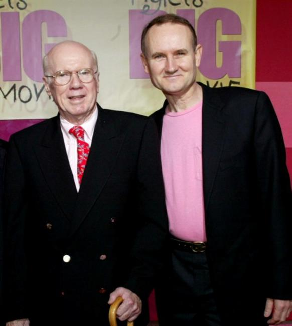 John Fiedler and Francis Glebas at the premiere of
