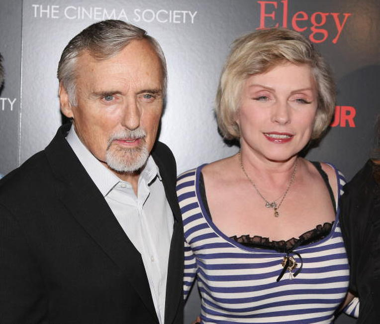 Dennis Hopper and Deborah Harry at the screening of
