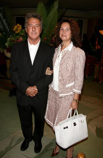 Dustin Hoffman and wife Lisa Gottsegen at the HFPA annual installation luncheon.