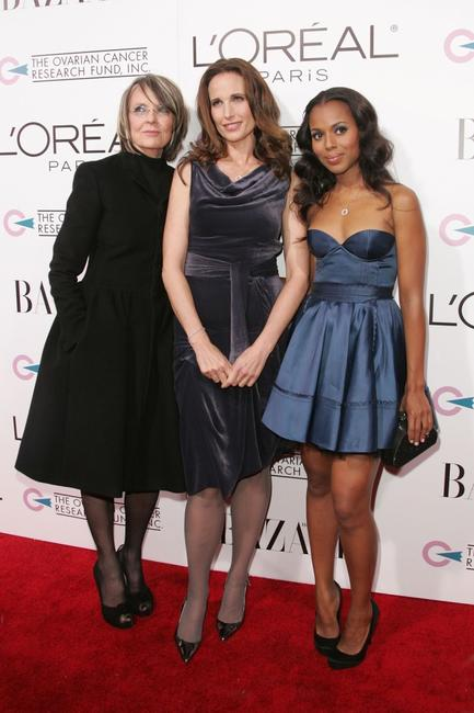 Diane Keaton, Andie MacDowell and Kerry Washington at the LOreal Paris presents