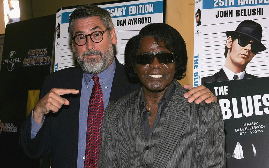 John Landis and James Brown at the Hollywood's Master Storytellers 25th Anniversary DVD Release of