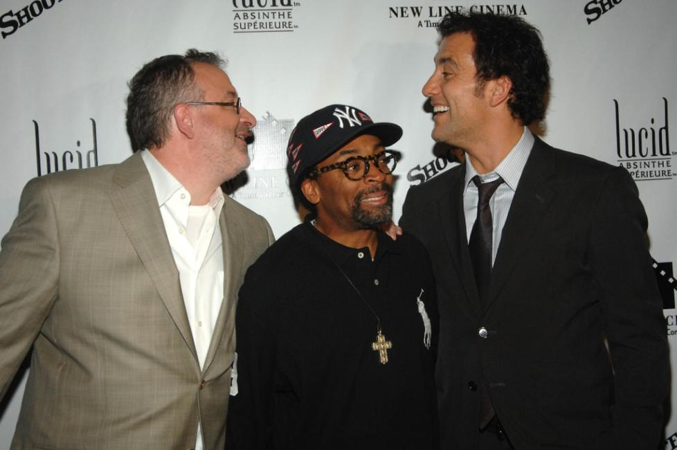 Spike Lee, Michael Davis and Clive Owen at the Regal in Union Square for the premiere of