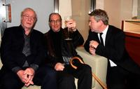 Michael Caine, Harold Pinter and Kenneth Branagh at the London Premiere of
