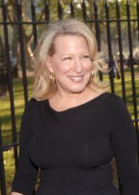 Bette Midler at the New York Restoration Project's 4th Annual Picnic.