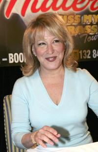 Bette Midler at the press conference for