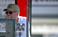 Paul Newman Watches During Practice and Qualifying for the CART Series GP.