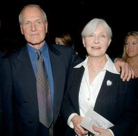 Paul Newman and his wife Joann Woodward at the premiere of
